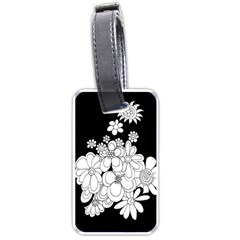 Mandala Calming Coloring Page Luggage Tags (two Sides)