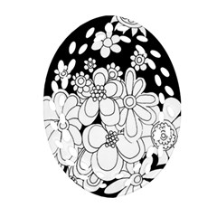 Mandala Calming Coloring Page Oval Filigree Ornament (Two Sides)