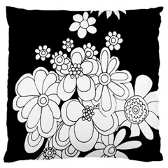 Mandala Calming Coloring Page Large Cushion Case (one Side)