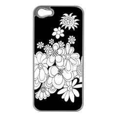 Mandala Calming Coloring Page Apple iPhone 5 Case (Silver)