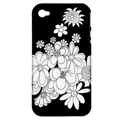 Mandala Calming Coloring Page Apple iPhone 4/4S Hardshell Case (PC+Silicone)