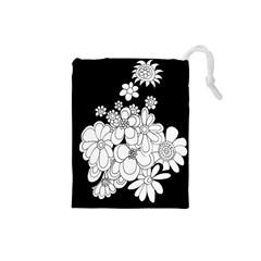 Mandala Calming Coloring Page Drawstring Pouches (Small)