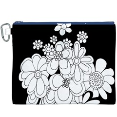 Mandala Calming Coloring Page Canvas Cosmetic Bag (XXXL)