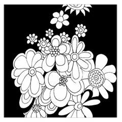 Mandala Calming Coloring Page Large Satin Scarf (square)