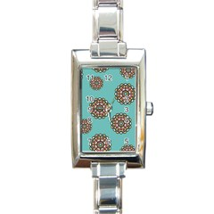 Circle Vector Background Abstract Rectangle Italian Charm Watch