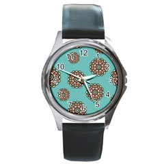 Circle Vector Background Abstract Round Metal Watch
