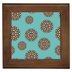 Circle Vector Background Abstract Framed Tiles