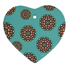 Circle Vector Background Abstract Ornament (heart)