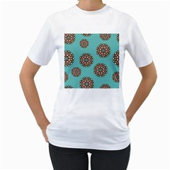 Circle Vector Background Abstract Women s T Shirt (white) (two Sided)