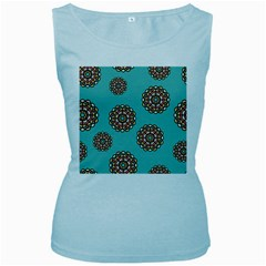 Circle Vector Background Abstract Women s Baby Blue Tank Top