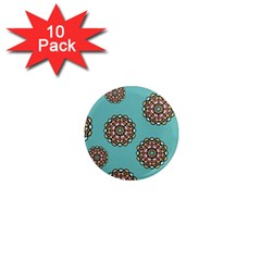 Circle Vector Background Abstract 1  Mini Magnet (10 pack)