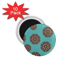 Circle Vector Background Abstract 1.75  Magnets (10 pack)