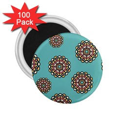 Circle Vector Background Abstract 2 25  Magnets (100 Pack)