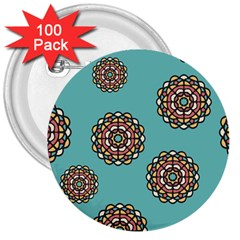 Circle Vector Background Abstract 3  Buttons (100 pack)