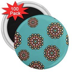 Circle Vector Background Abstract 3  Magnets (100 Pack)