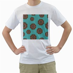 Circle Vector Background Abstract Men s T-Shirt (White) (Two Sided)