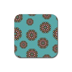 Circle Vector Background Abstract Rubber Square Coaster (4 pack)