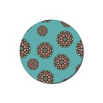 Circle Vector Background Abstract Rubber Round Coaster (4 pack)  Front