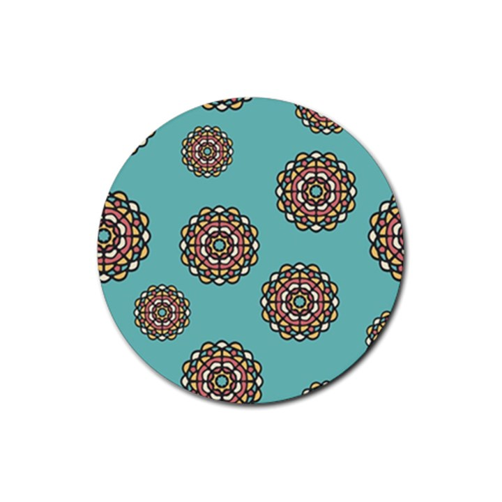 Circle Vector Background Abstract Rubber Round Coaster (4 pack)