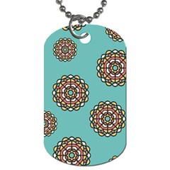 Circle Vector Background Abstract Dog Tag (Two Sides)