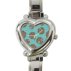Circle Vector Background Abstract Heart Italian Charm Watch