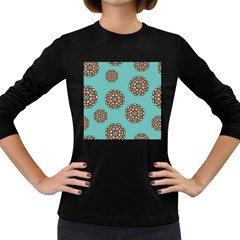 Circle Vector Background Abstract Women s Long Sleeve Dark T-Shirts