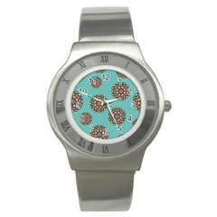 Circle Vector Background Abstract Stainless Steel Watch
