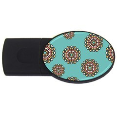 Circle Vector Background Abstract Usb Flash Drive Oval (4 Gb)