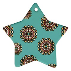 Circle Vector Background Abstract Star Ornament (Two Sides)
