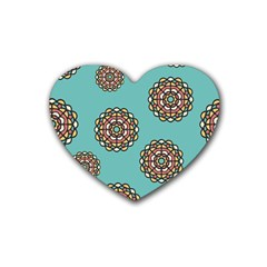 Circle Vector Background Abstract Rubber Coaster (Heart)