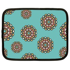 Circle Vector Background Abstract Netbook Case (large)