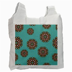 Circle Vector Background Abstract Recycle Bag (two Side)
