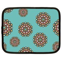 Circle Vector Background Abstract Netbook Case (xl)