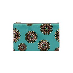 Circle Vector Background Abstract Cosmetic Bag (small)