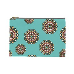 Circle Vector Background Abstract Cosmetic Bag (Large)