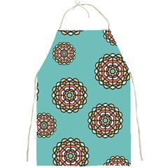 Circle Vector Background Abstract Full Print Aprons