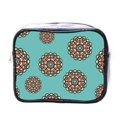 Circle Vector Background Abstract Mini Toiletries Bags
