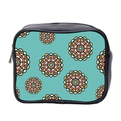 Circle Vector Background Abstract Mini Toiletries Bag 2 Side
