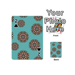 Circle Vector Background Abstract Playing Cards 54 (Mini)