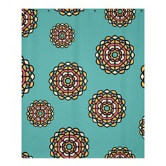 Circle Vector Background Abstract Shower Curtain 60  x 72  (Medium)