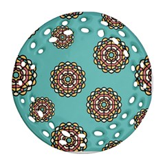 Circle Vector Background Abstract Round Filigree Ornament (two Sides)