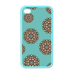 Circle Vector Background Abstract Apple Iphone 4 Case (color)