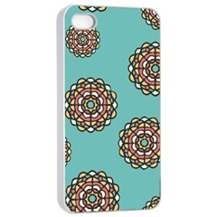 Circle Vector Background Abstract Apple Iphone 4/4s Seamless Case (white)