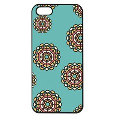 Circle Vector Background Abstract Apple Iphone 5 Seamless Case (black)