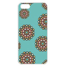 Circle Vector Background Abstract Apple Iphone 5 Seamless Case (white)