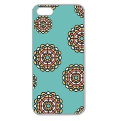 Circle Vector Background Abstract Apple Seamless iPhone 5 Case (Clear)