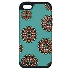Circle Vector Background Abstract Apple Iphone 5 Hardshell Case (pc+silicone)