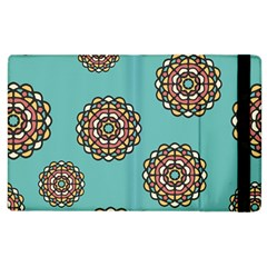 Circle Vector Background Abstract Apple Ipad 2 Flip Case
