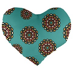 Circle Vector Background Abstract Large 19  Premium Heart Shape Cushions