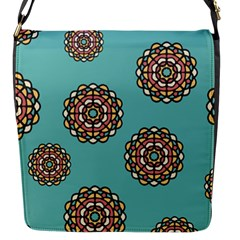 Circle Vector Background Abstract Flap Messenger Bag (s)